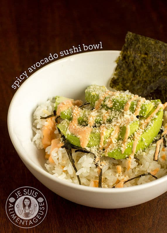 Deconstructed Spicy Avocado Sushi Bowl (Gluten-Free)