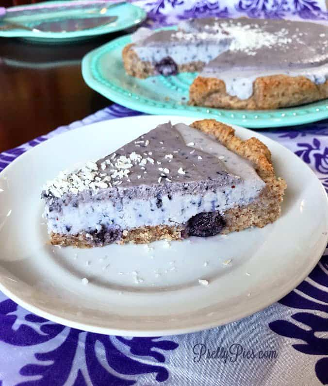 Deep Dish Frosted Blueberry Tart