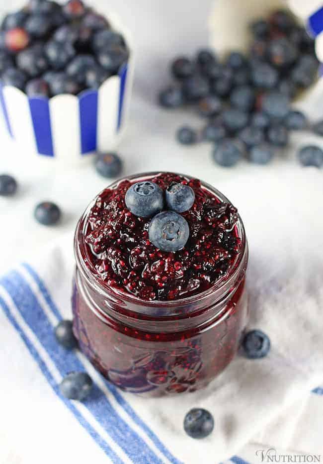 Easy Blueberry Chia Jam