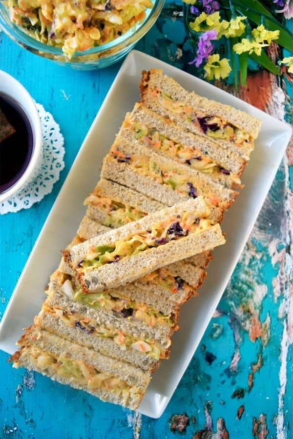 Easy Coleslaw Sandwich Bars