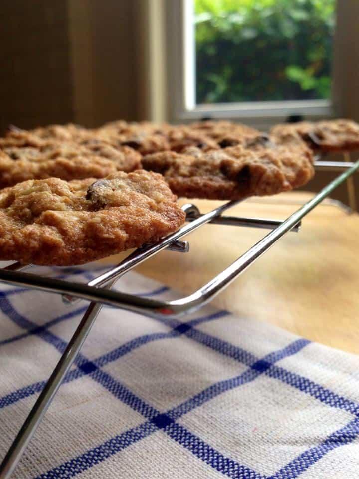 Easy Oatmeal Walnut Chip Cookies