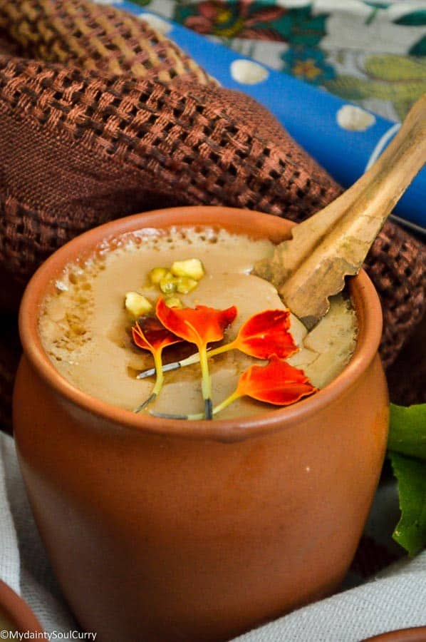 Mishti Doi or Sweetened Vegan Yogurt