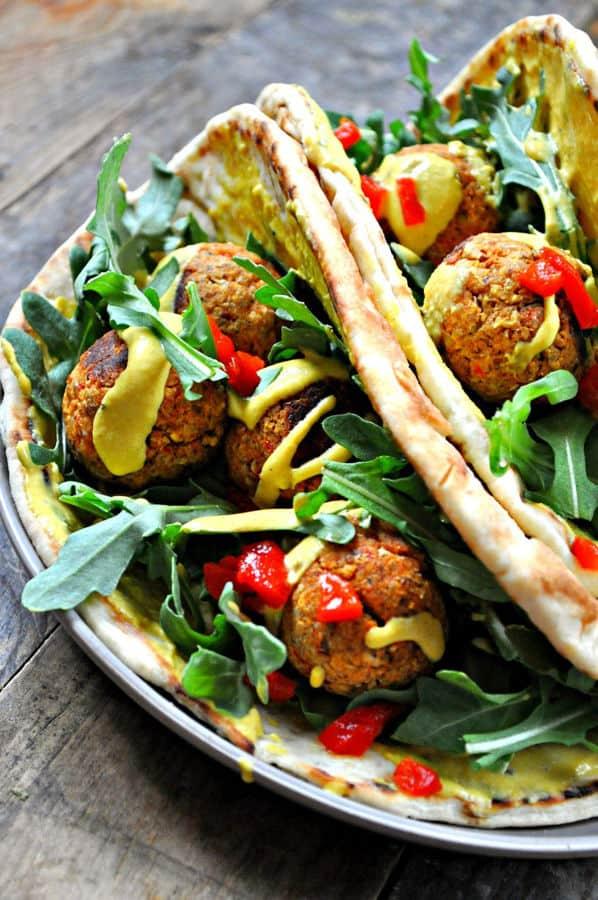 Moroccan Meatball Pitas