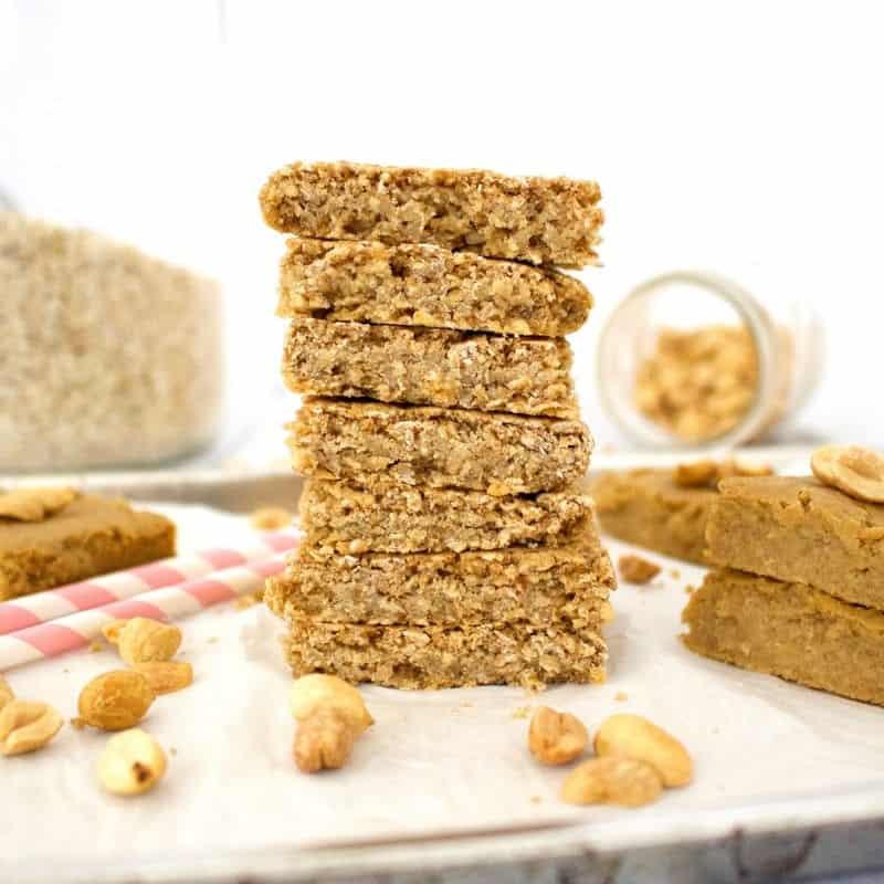Peanut Butter Oatmeal Blondies (Gluten-Free)