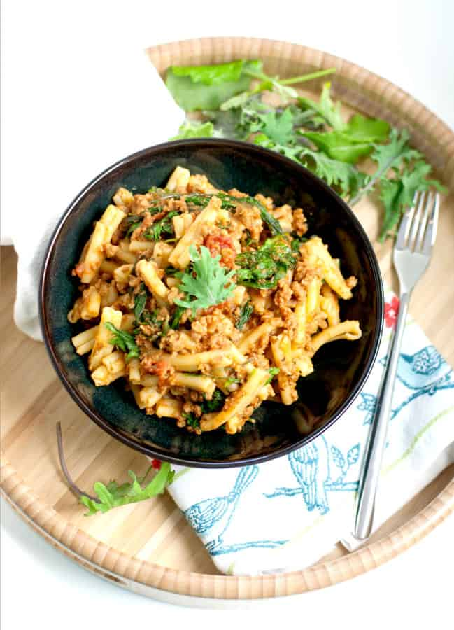 """Quick & Easy Pasta with """"Meat"""" Sauce"""