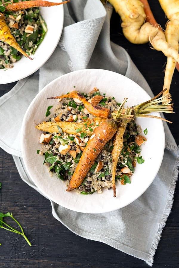 Roasted Carrots and Creamy Quinoa