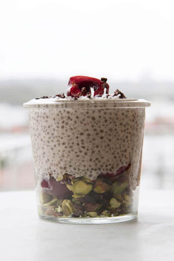 Sweet Cherry Chia Breakfast Jar