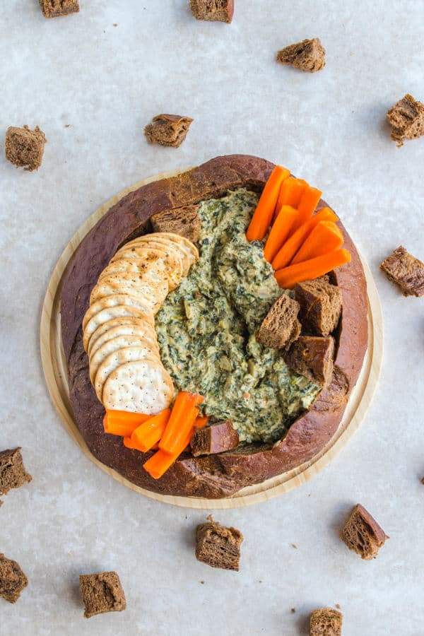 The Best Ever Homemade Vegan Spinach Dip