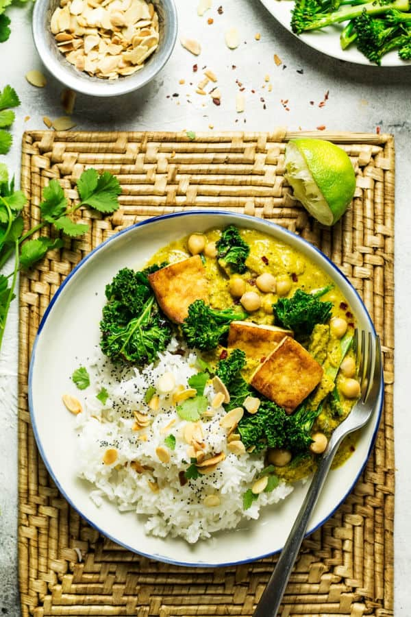 Tofu Korma with Greens