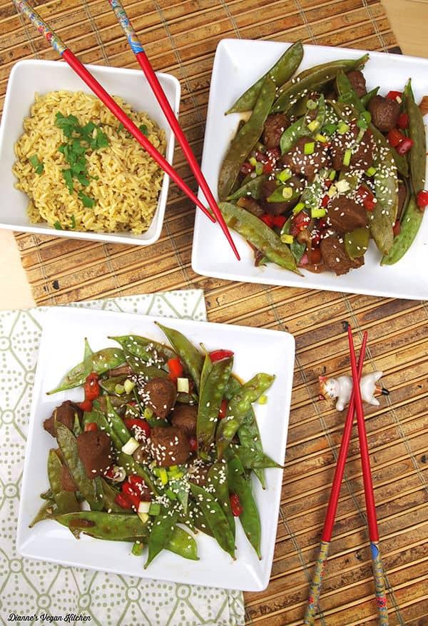 Veggie Beef and Snap Pea Stir-Fry