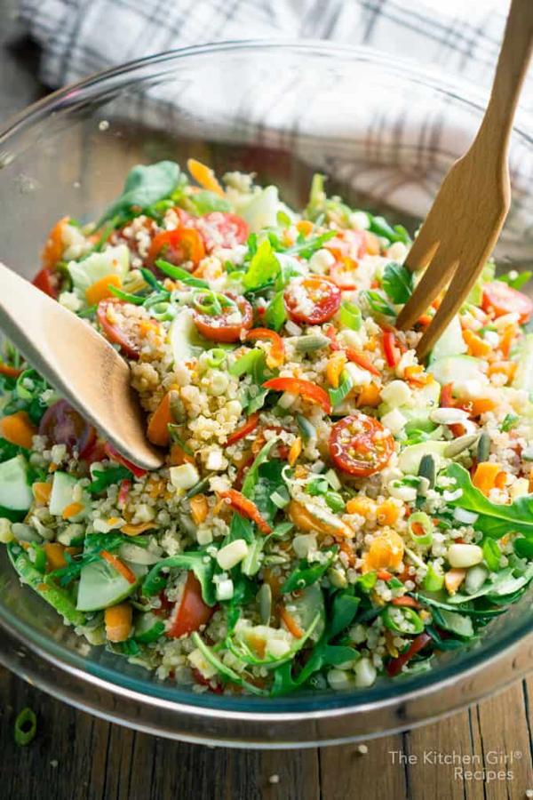 Veggie Quinoa Chopped Salad