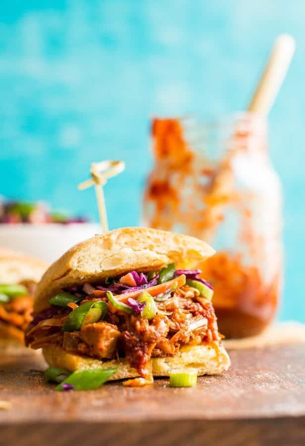 BBQ Jackfruit Pulled 'Pork' Sandwiches (Gluten-Free)