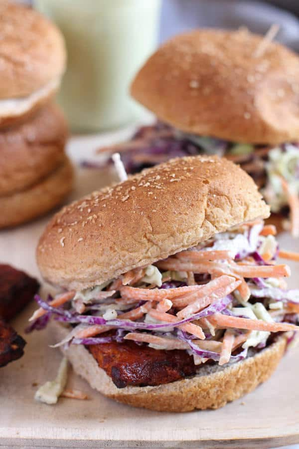 Barbecue Ranch Tempeh Burgers