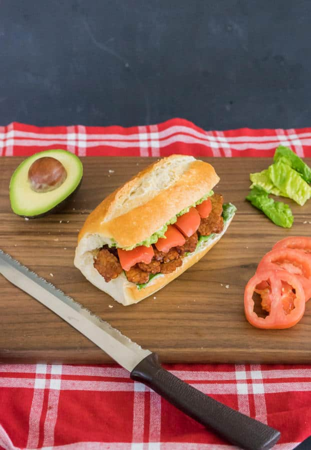 BLT Sandwich with Maple Tempeh Bacon