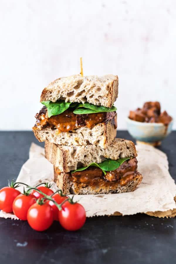 Buffalo Tofu Chicken Sandwich