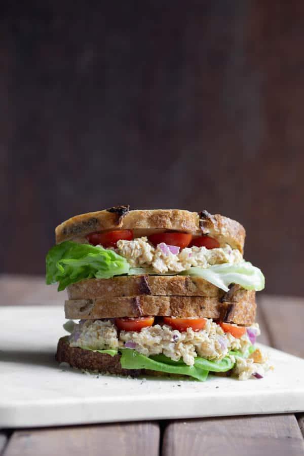 Caesar Smashed Chickpea Sandwich