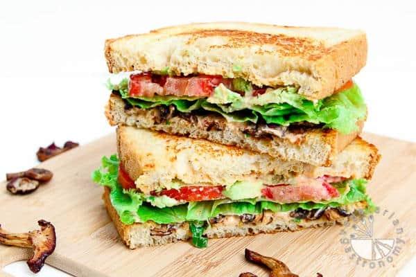 Crispy Mushroom Avocado Sandwich with Chipotle Green Onion Aioli (Gluten-Free)