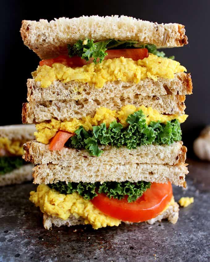 Easy Turmeric Chickpea Salad Sandwich