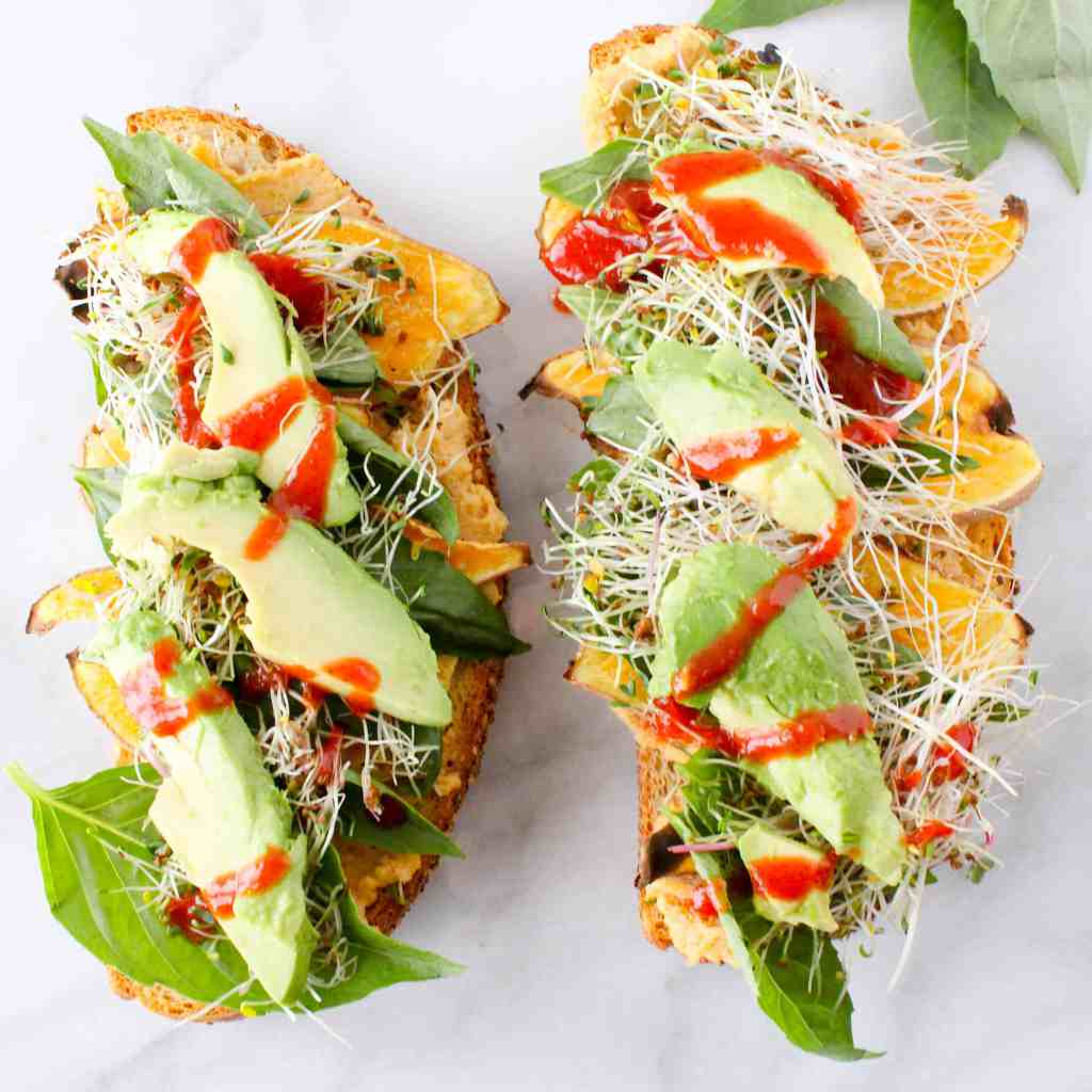 Favorite Sweet Potato Hummus Sandwich (Gluten-Free)