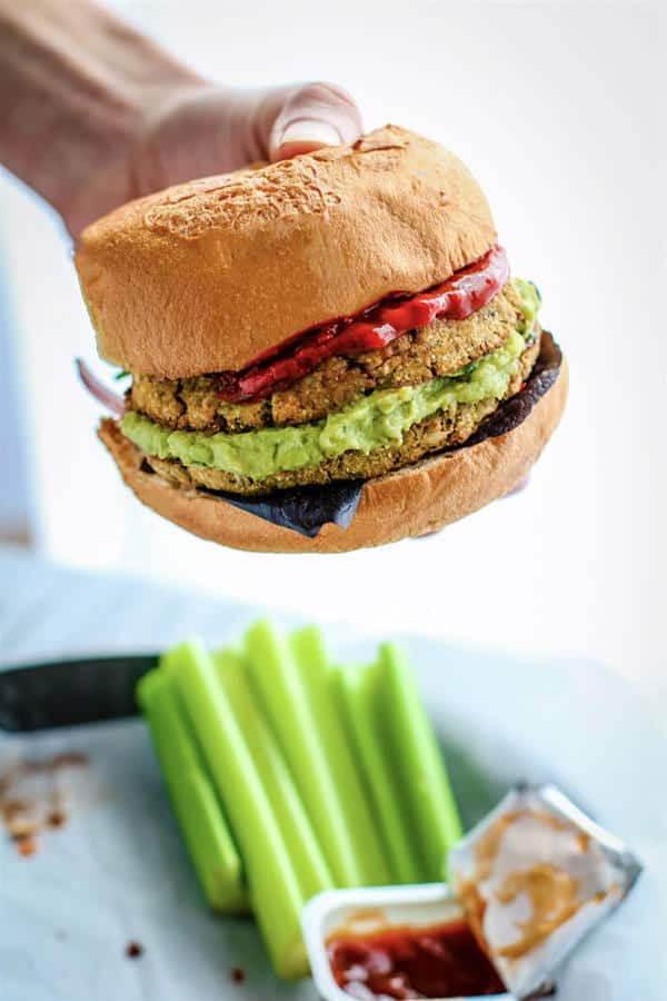 Freezer Friendly Homemade Vegan Veggie Burgers (Gluten-Free)