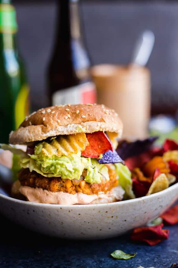 Guacamole Crunch Burgers (Gluten-Free)