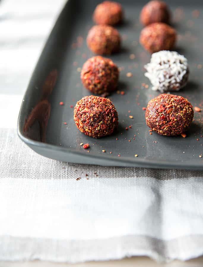 Hazelnut Truffles Rolled in Goji Berries (Gluten-Free)