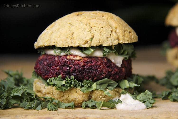 Hemp & Beet Veggie Burger Recipe (Gluten-Free)