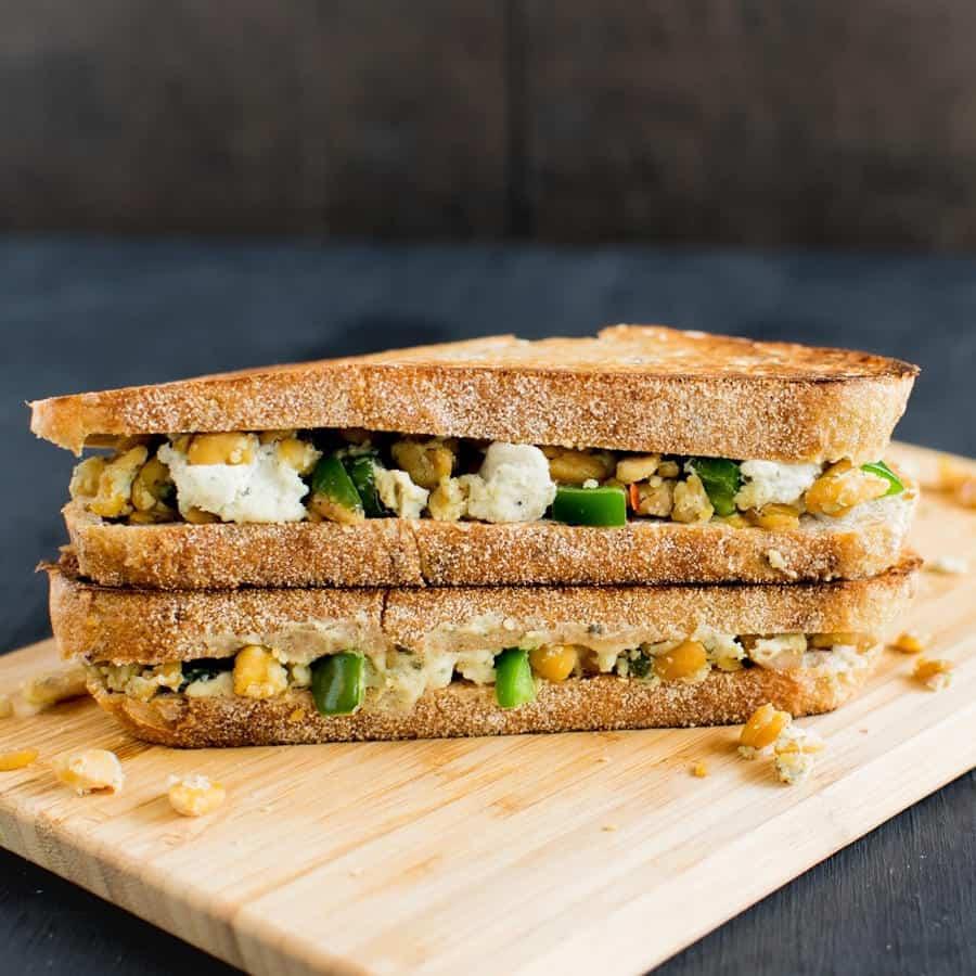 Jalapeno Tempeh Cheese Sandwich