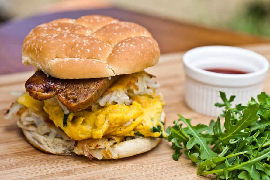 Mac Daddy Breakfast Sandwich