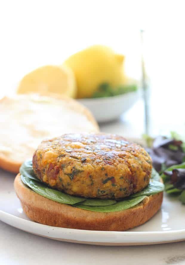 Mediterranean Chickpea Burgers (Gluten-Free)