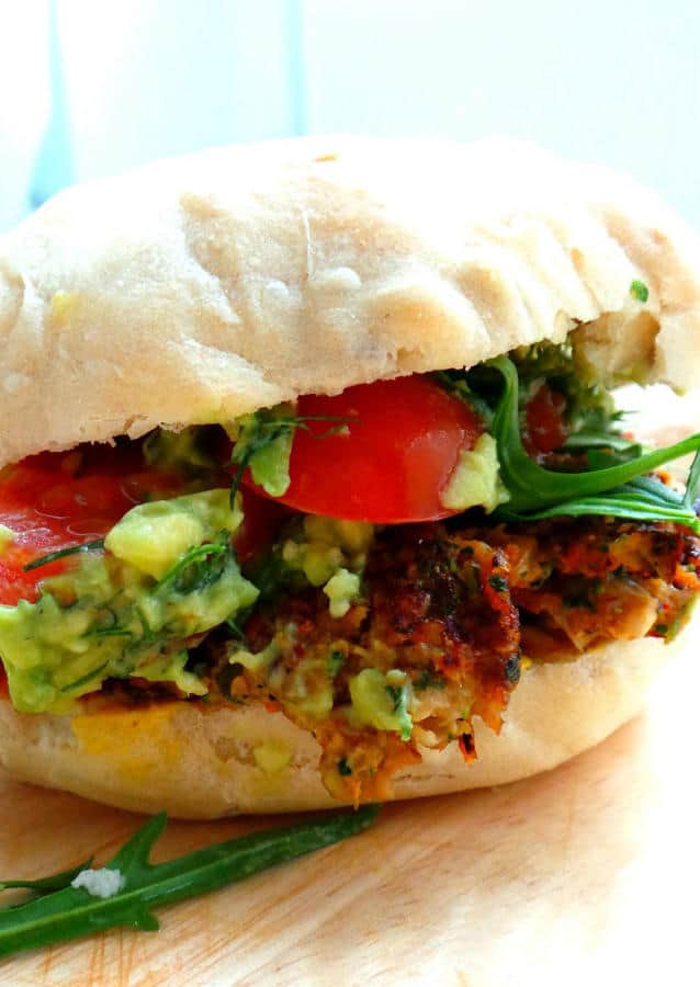 Mushroom Burgers with Garlic, Onion, Cilantro and Parsley