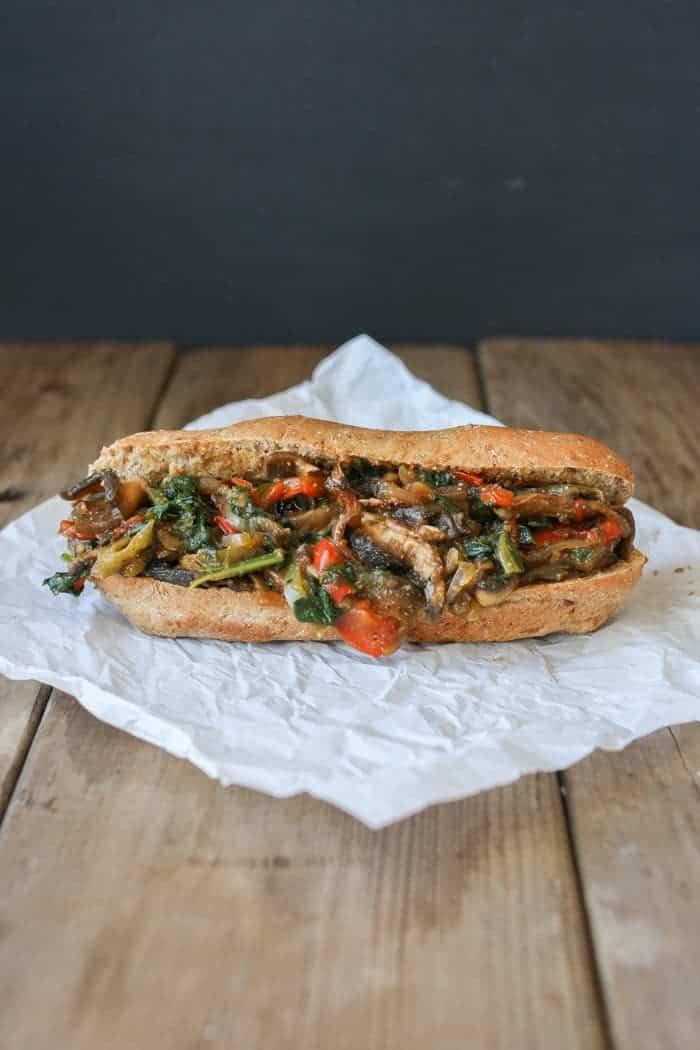 Philly Portobello Steak Sandwich