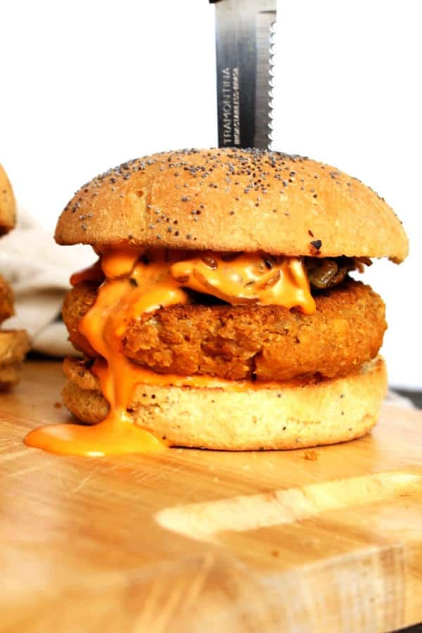 Protein Packed Red Lentil Burger