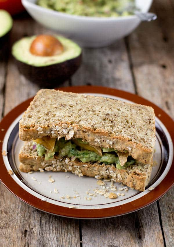 Roasted Tofu and Guacamole Sandwich