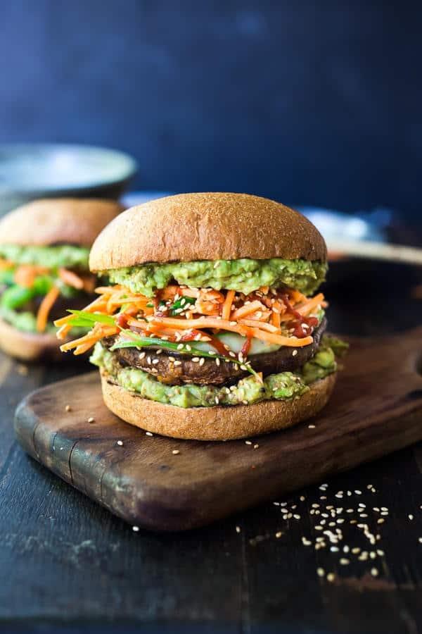 Spicy Miso Portobello Mushroom Burger