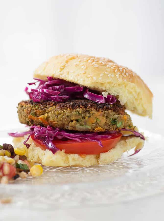 Tahini Lentil Veggie Burgers
