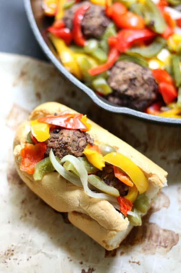 Vegan Boardwalk Italian Sausage & Peppers Sandwiches