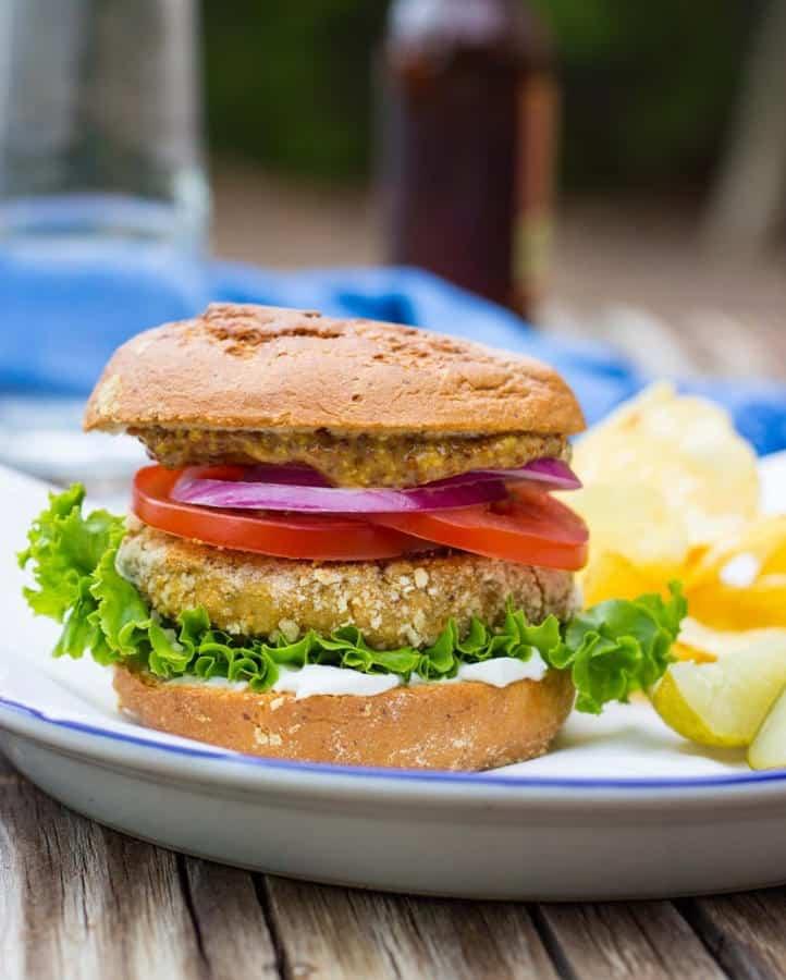 """Vegan """"Chicken"""" Patty Sandwiches (Gluten-Free)"""