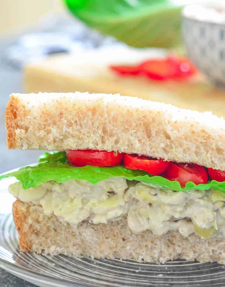 White Bean and Artichoke Sandwich Filling (Gluten-Free)