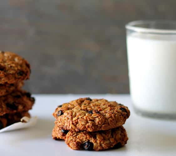 Wild Blueberry Oatmeal Cookies (Gluten-Free)