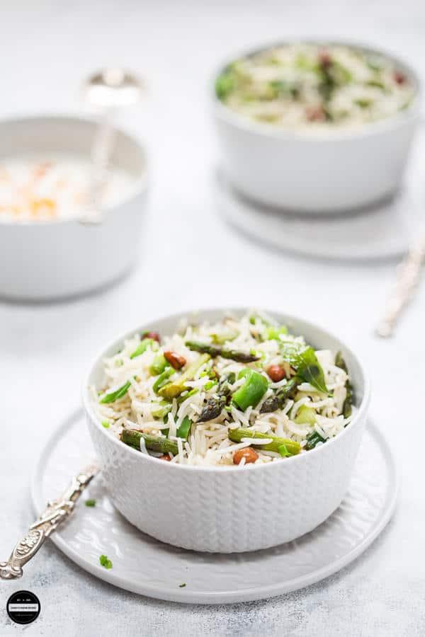 Asparagus and Peanut Rice
