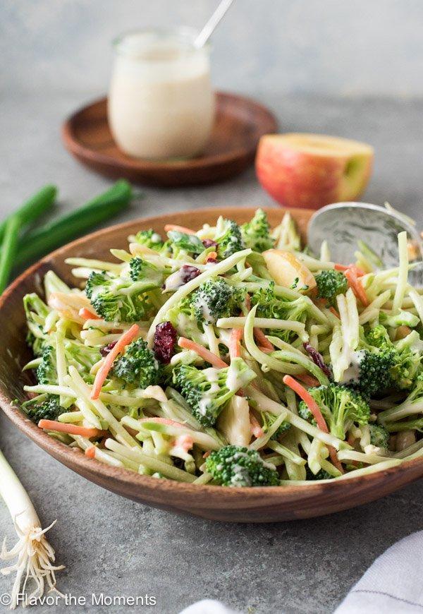 Broccoli Slaw Salad with Creamy No Mayo Dressing