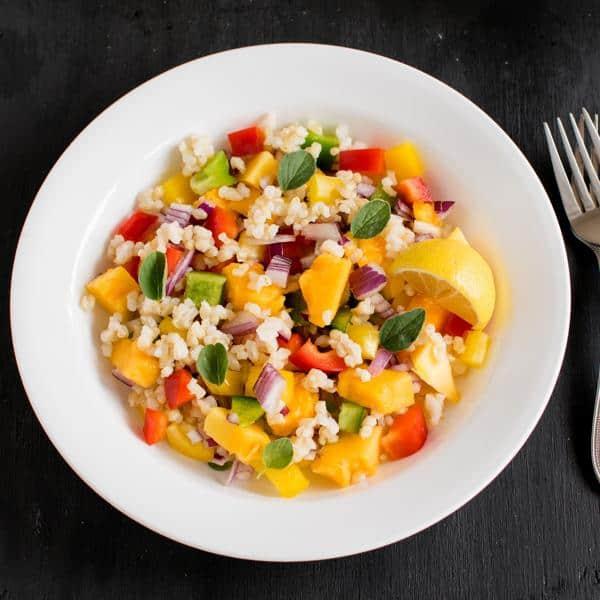 Brown Rice Papaya Salad