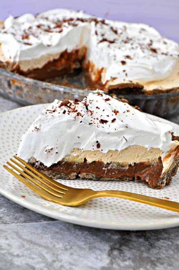 Chocolate Peanut Butter Banana Pie (Gluten-Free)