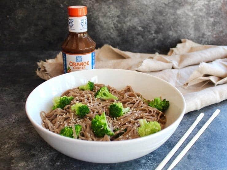 Citrus Tahini Soba Noodles and Broccoli