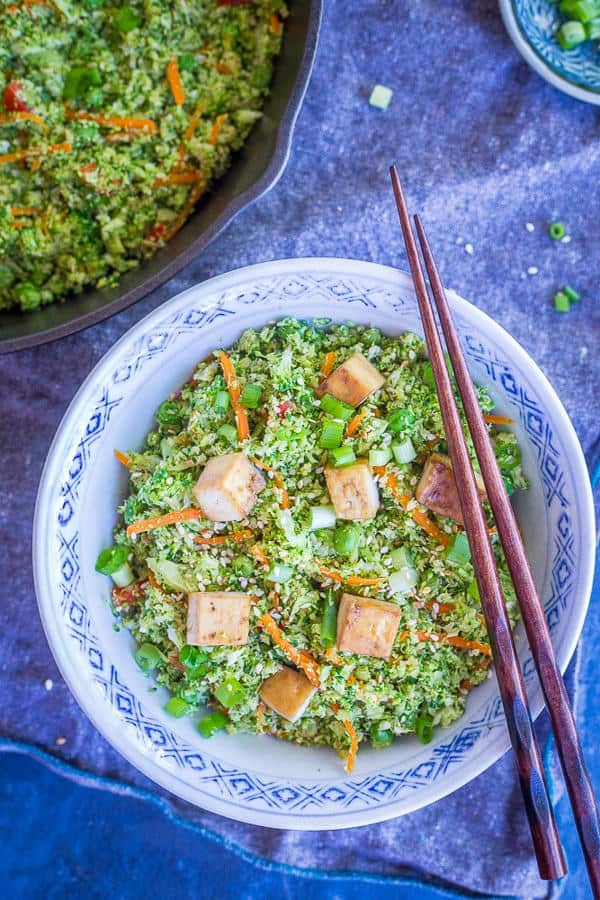 "Easy Broccoli Fried ""Rice"""