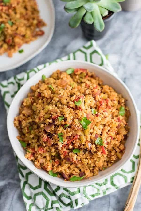 Easy Cauliflower Dirty Rice