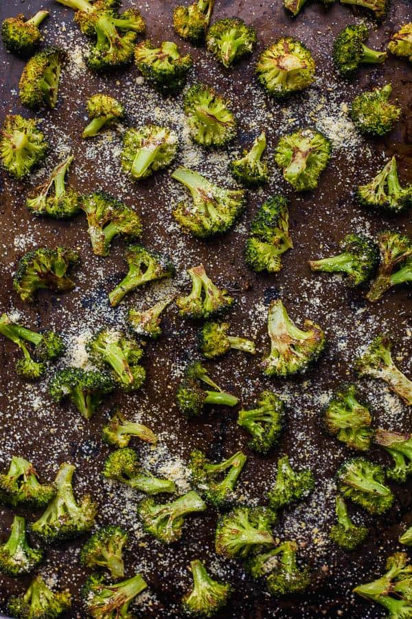 Easy Vegan Parmesan Roasted Broccoli