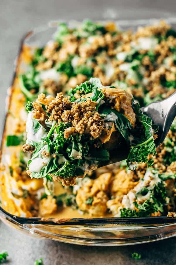 Healthy Buffalo Cauliflower Casserole