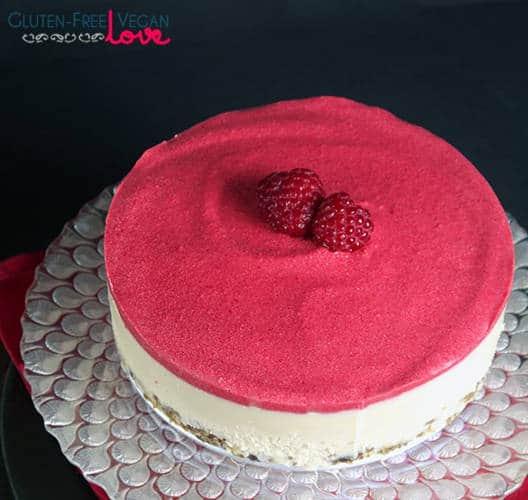 Heavenly Raw White Chocolate and Raspberry Cheesecake (Gluten-Free)